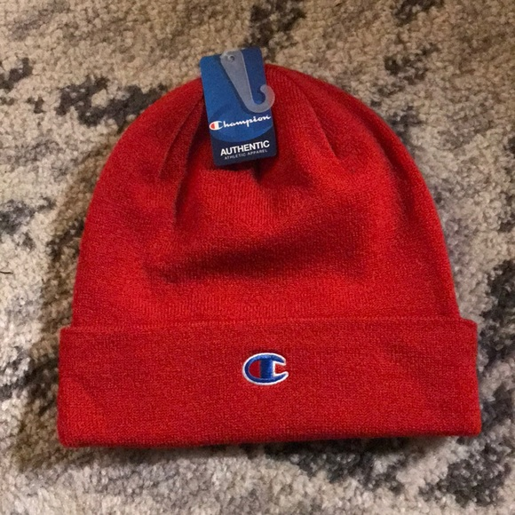 Champion Red Beanies   Hats ❤️ 7641332edc0